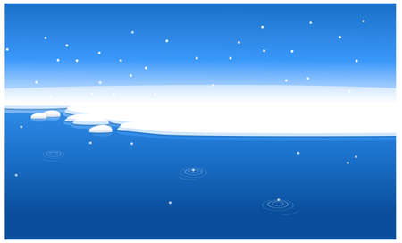 this illustration is the general nature of the winter landscape. Snow water landscape Stock Vector - 15880215