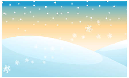 this illustration is the general nature of the winter landscape. snowing over snowcapped Mountain Vector