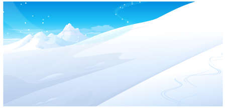 this illustration is the general nature of the winter landscape. Snowing over snowcapped Mountain Stock Vector - 15881313