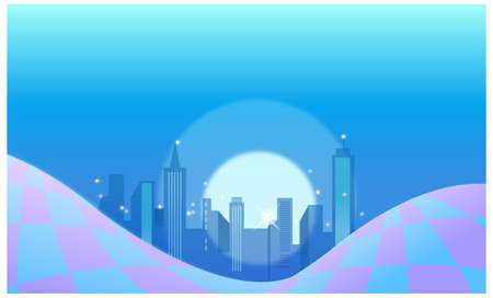 This illustration is a common cityscape. City skyline background Stock Vector - 15881763