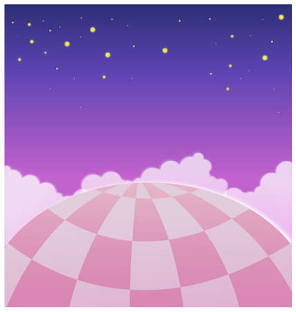This illustration is a common natural landscape. Close-up of Hot Air Balloon in Sky Vector