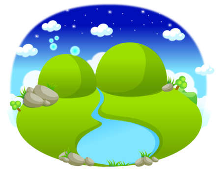 This illustration depicts a young child's dream world. Waterways Stock Vector - 15881663
