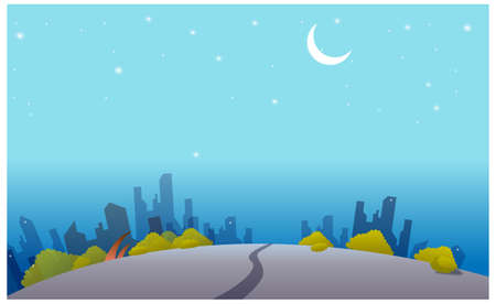This illustration is a common cityscape. Night skyline Stock Vector - 15880926