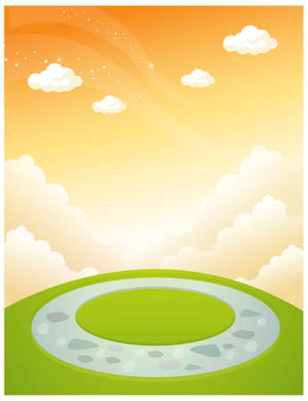 This illustration depicts a young child's dream world. Part of garden design and sky Stock Vector - 15901409