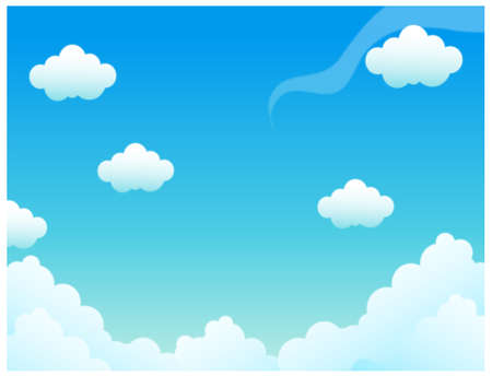 This illustration depicts a young child's dream world. Clouds in blue sky Stock Vector - 15881526
