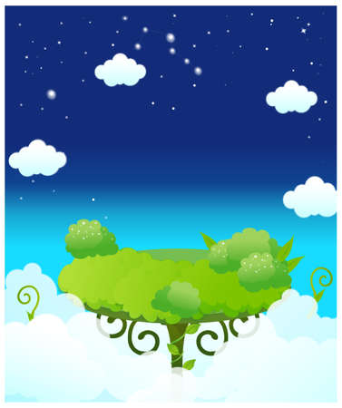 This illustration depicts a young child's dream world. Dinning table in sky Stock Vector - 15901019