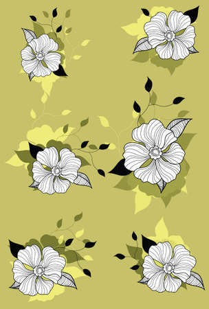 This illustration is a common natural landscape. flower Vector