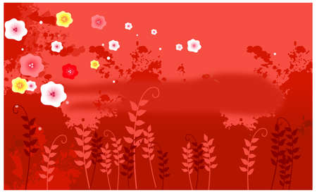 This illustration is a common cityscape. Flora background Stock Vector - 15881612