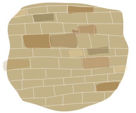 This illustration is a common cityscape. Brick wall on white background Stock Vector - 15879780