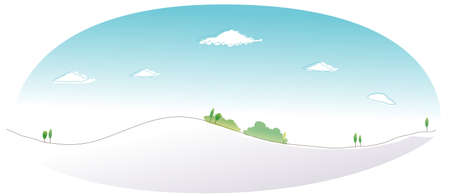 This illustration is a common natural landscape. Snow mountain peak Stock Vector - 15879741