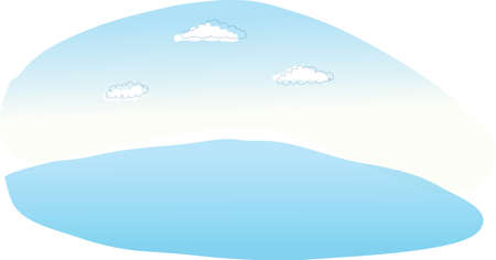 This illustration is a common natural landscape. Clouds in sky Stock Vector - 15879732