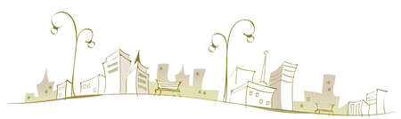This illustration is a common cityscape. Cityscape Vector