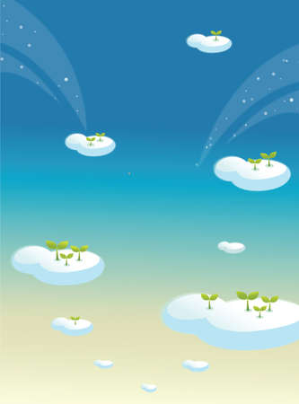 This illustration is a common natural landscape. Clouds in blue sky Stock Vector - 15900765
