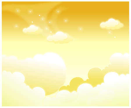 This illustration is a common natural landscape. Clouds in Sky Stock Vector - 15881619