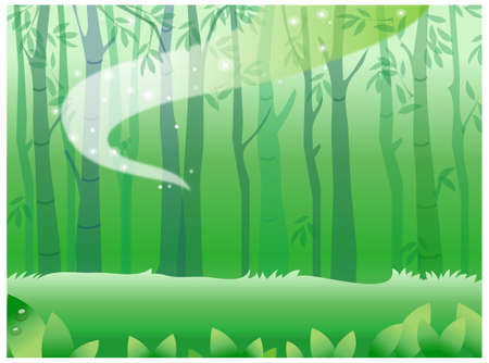 This illustration is a common natural landscape. Forest Stock Vector - 15887409