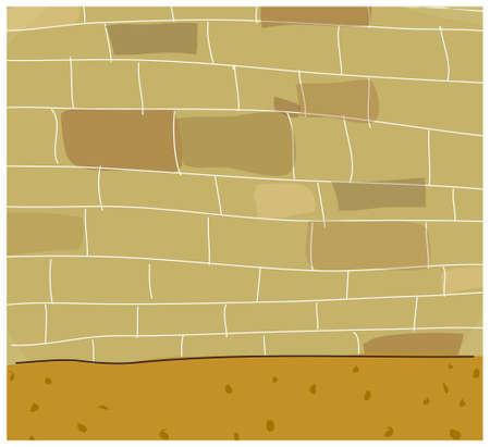 This illustration is a common natural landscape. Brick wall  Stock Vector - 15879788