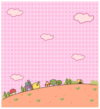 This illustration is a common natural landscape. Rural scene and wallpaper Stock Vector - 15881082