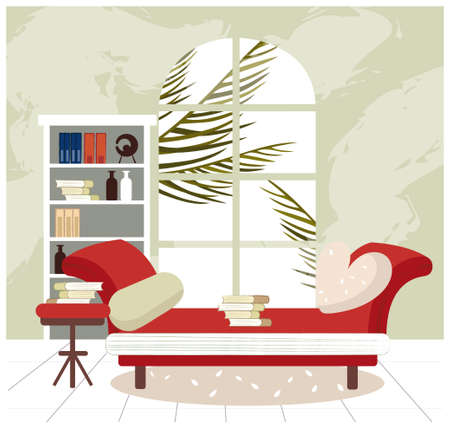 This illustration is a common cityscape. Empty living room interior Stock Vector - 15881442