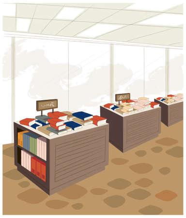 buchhandlung: Diese Abbildung ist eine gemeinsame Stadtbild. Bookstore Innenraum