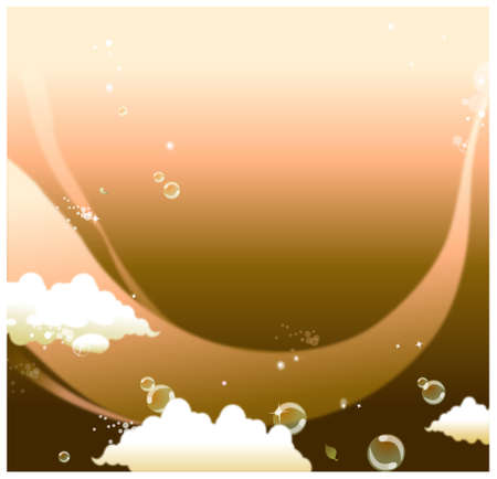 This illustration is a common natural landscape. The bubbles in sky Stock Vector - 15901408
