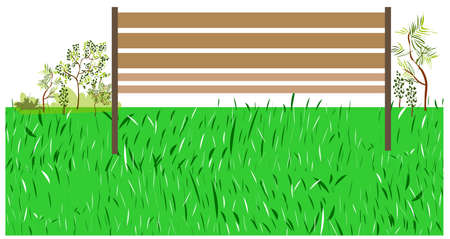 This illustration is a common cityscape. bench on green grass Stock Vector - 15903229