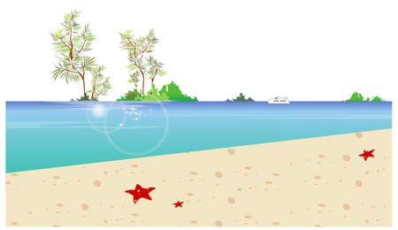This illustration is a common cityscape. Island and beach Stock Vector - 15945910