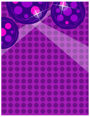 This illustration is a common cityscape. Background with disco ball Stock Vector - 15946741