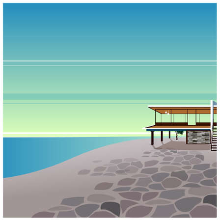 This illustration is a common cityscape. Beach Stock Vector - 15903909