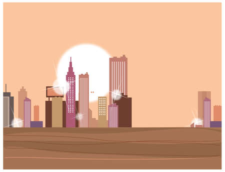 This illustration is a common cityscape. Cityscape  Stock Vector - 15946921