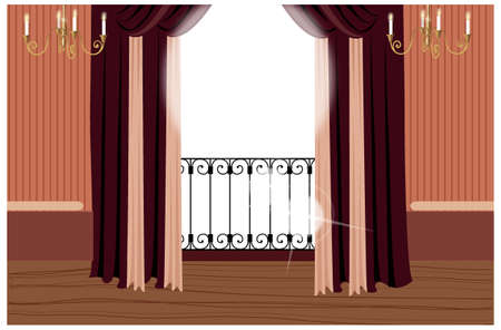 This illustration is a common cityscape. Balcony Stock Vector - 15947268