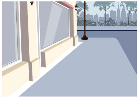 This illustration is a common cityscape. Cityscape  Illustration