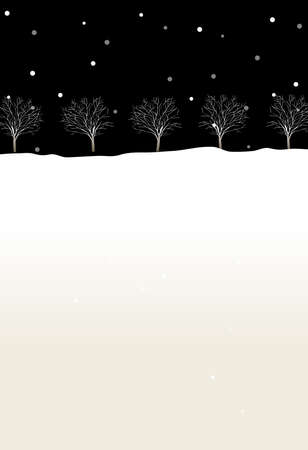 This illustration is a common cityscape. Trees in winter Stock Vector - 15946140