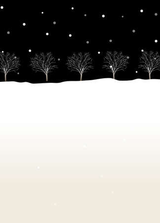 This illustration is a common cityscape. Trees in winter Stock Vector - 15946073