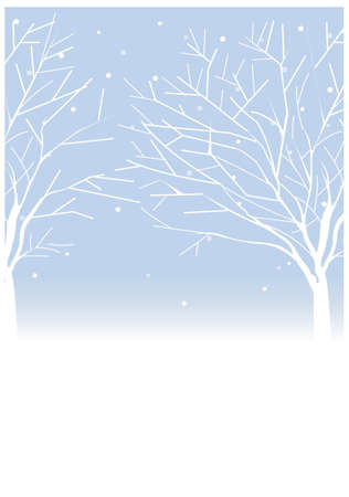 This illustration is a common cityscape. Trees in winter Vector