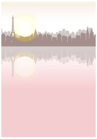 This illustration is a common cityscape. city skyline  Vector