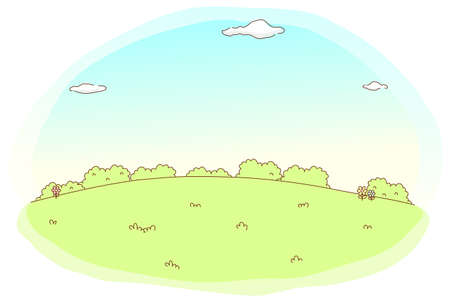 This illustration is a common cityscape. Green Landscape and sky Stock Vector - 15903142