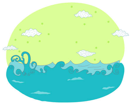 sonic: This illustration is a common natural landscape. sea