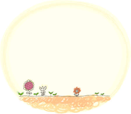 This illustration is a common natural landscape. flowers  Stock Vector - 15946867