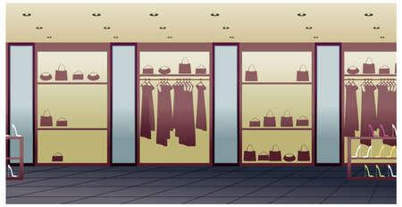 ce: Cette illustration est un paysage urbain commun. magasin d'int�rieur Illustration