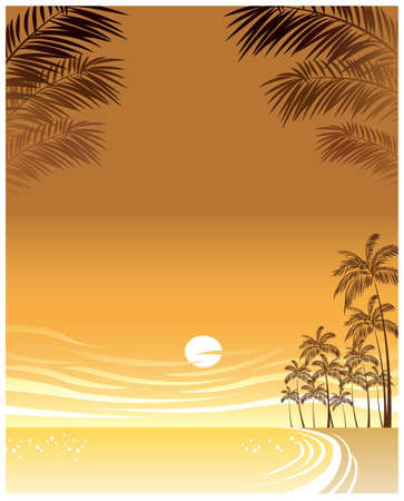 This illustration is a common cityscape. Sunset over beach Stock Vector - 15946554