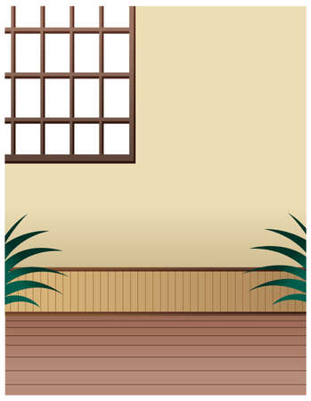 This illustration is a common cityscape. window on wall Stock Vector - 15946935