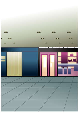This illustration is a common cityscape. Shop Interior Stock Vector - 15946965