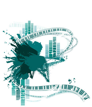 This illustration is a common cityscape. musical background Stock Vector - 15947495