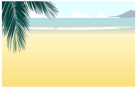 This illustration is a common cityscape. Idyllic Beach Vector