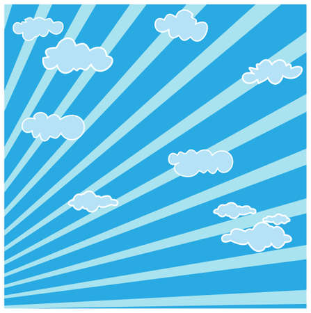 This illustration is a common cityscape. Clouds And Sky Stock Vector - 15903222