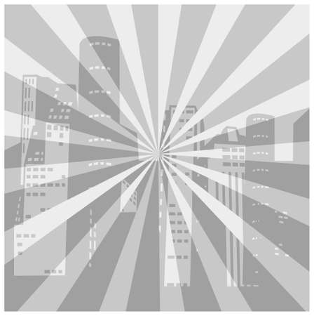 This illustration is a common cityscape. City Skyline Background Stock Vector - 15903235