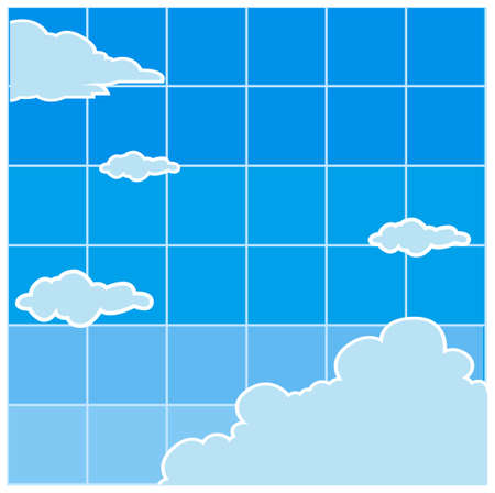 This illustration is a common cityscape. Clouds And Sky Stock Vector - 15903131