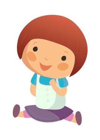 Portrait of happy girl Stock Vector - 15945883