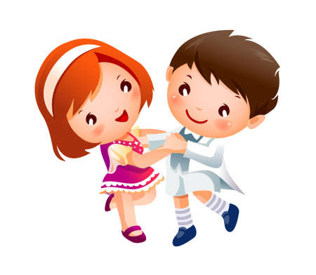 Boy and Girl dancing Stock Vector - 15946411