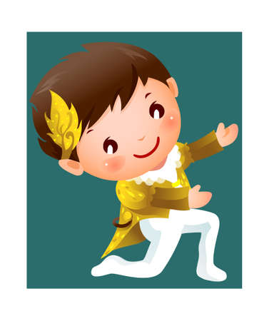 Boy ballet dancer Vector